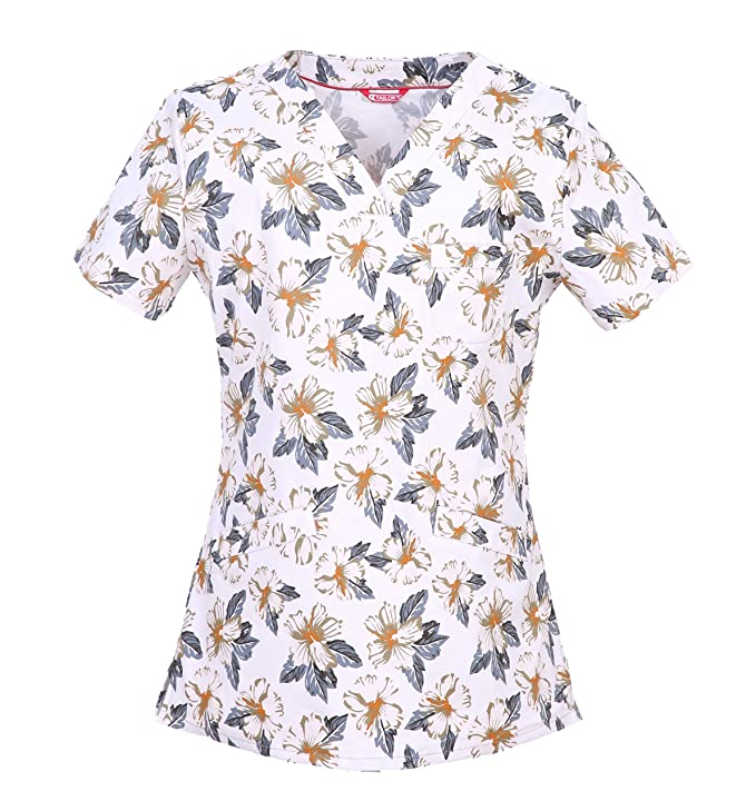 TAILOR'S Women's Medical Print Scrub Top
