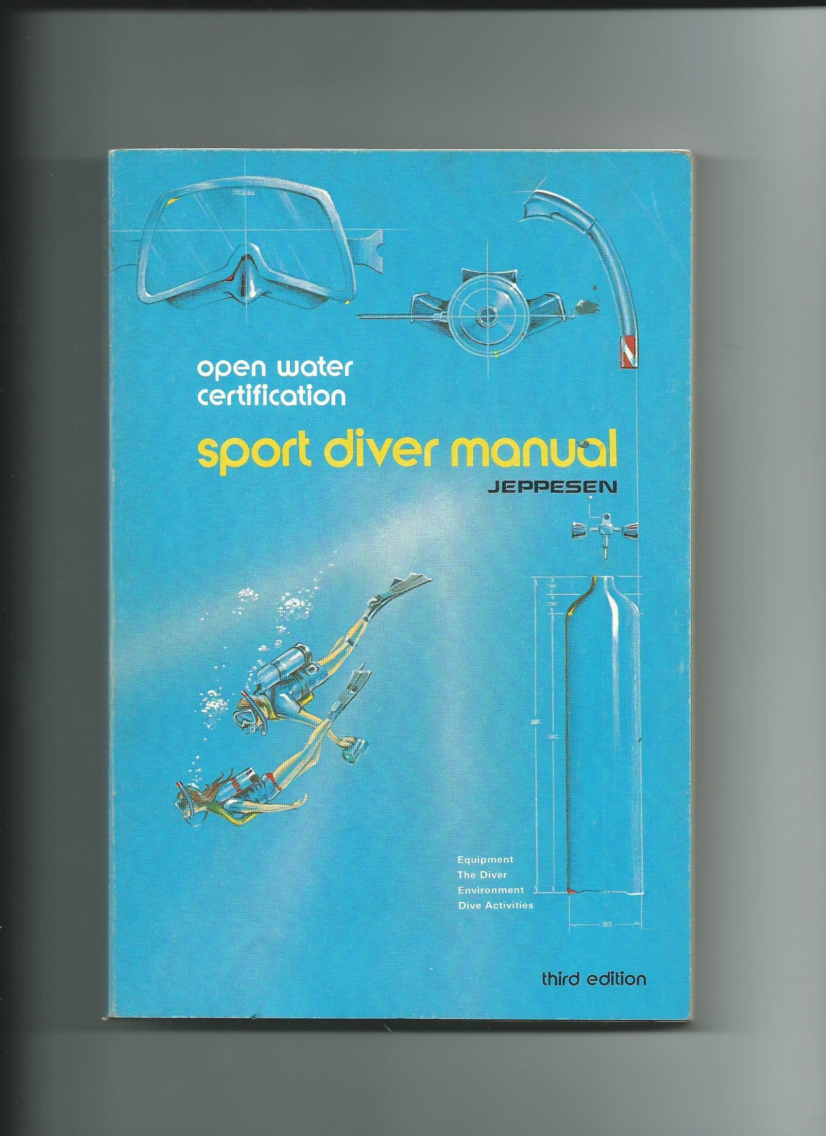 Jeppesens Open Water Sport Diver Manual Books Scuba thelibas.com