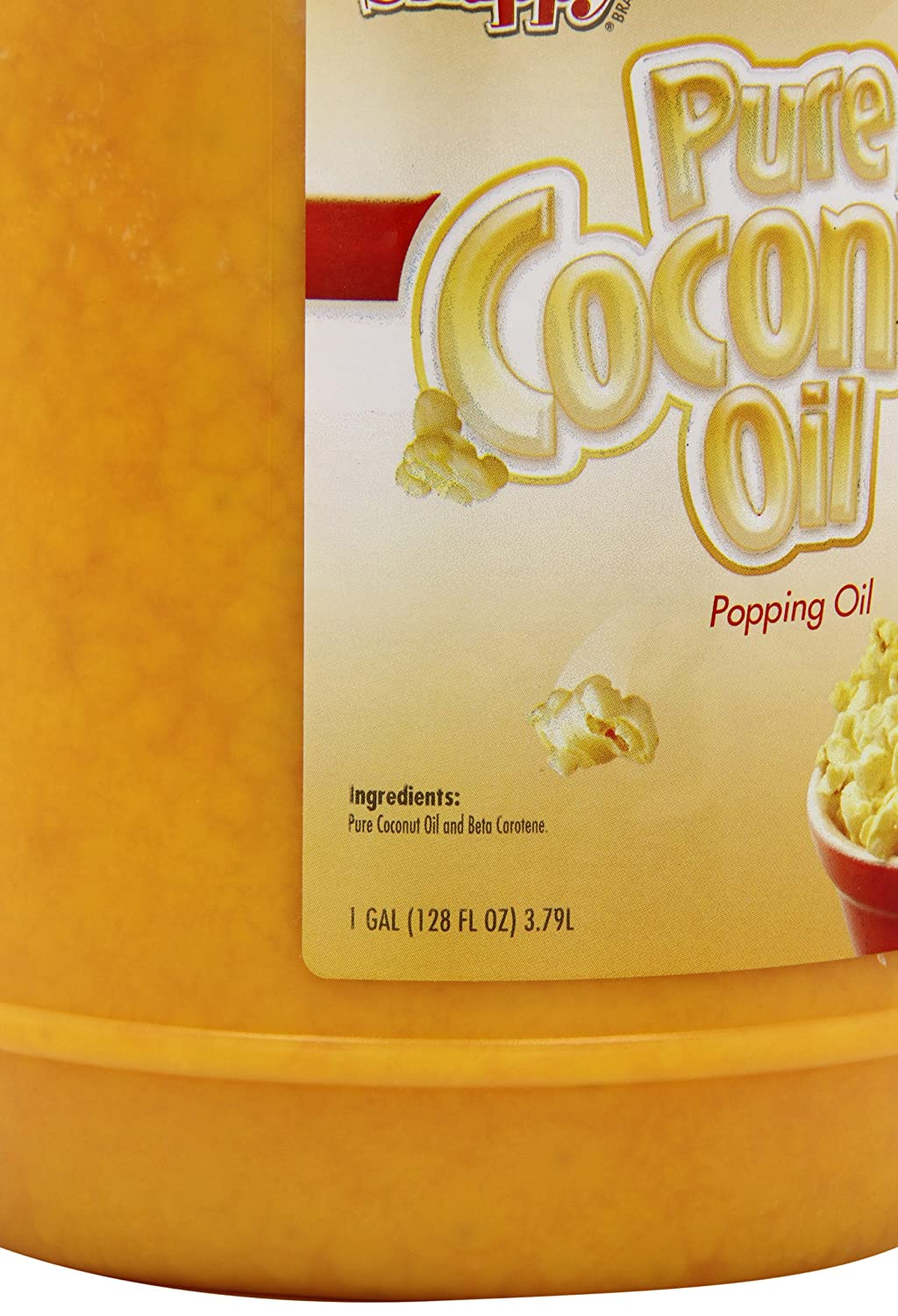 Amazon.com : Snappy Popcorn Colored Coconut Oil, 1 Gallon (2 Pack) : Grocery & Gourmet Food