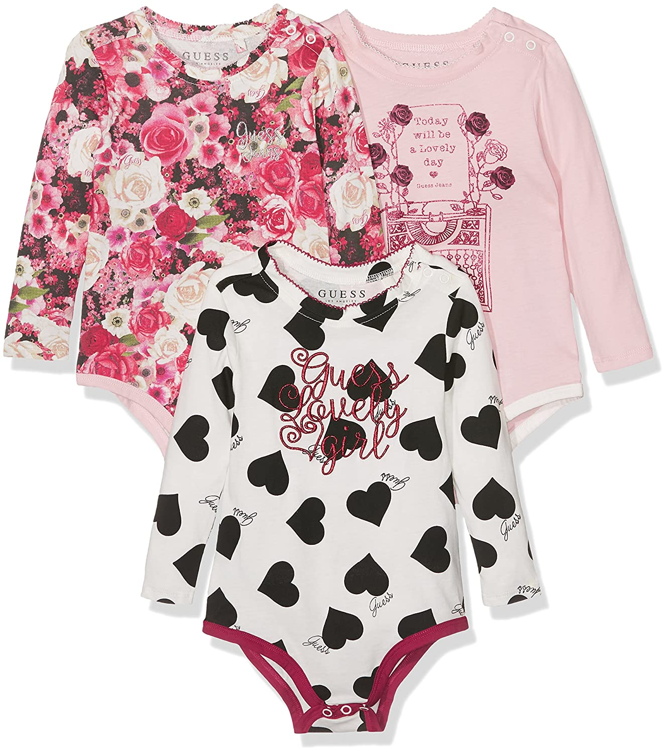 Guess Baby Girls 3Pc Body Clothing Set Multicoloured bo Noir