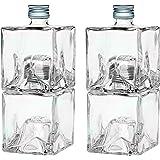 4 bouteilles en verre vides bouteilles de 250ml empiler des bouteilles en verre avec bouchon pour Mystic huile auto de remplissage / vinaigre distributeur mis 0.25l litre bouteilles d'alcool bouteilles d'alcool hauteur bouteille de vinaigre de boutei