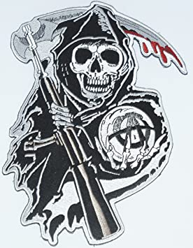 Parche bordado con el logotipo de Sons of Anarchy Grim ...