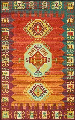 Mohawk Home Prismatic Teton Multicolored Southwest Aztec Precision Printed Area Rug