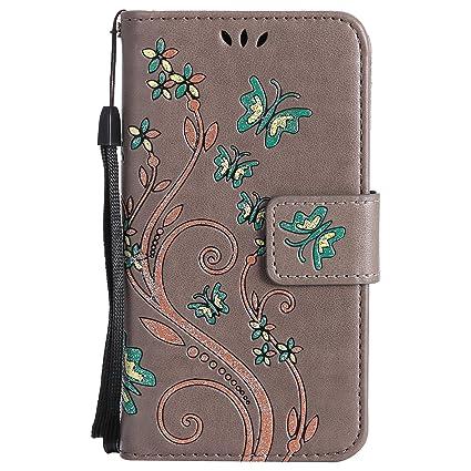 Lomogo [Xperia Z3 Compact] Hülle Leder, Schutzhülle Brieftasche mit Kartenfach Klappbar Magnetverschluss Stoßfest Handyhülle