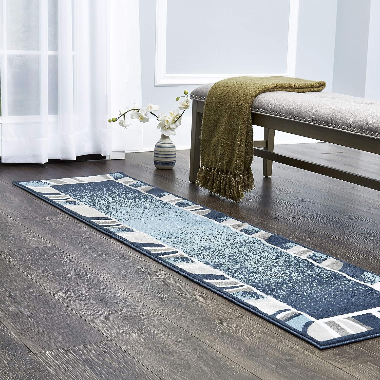 "Home Dynamix Lyndhurst Rotana Modern Area Rug, Contemporary Blue/Gray/Ivory 1'9""x7'2"""