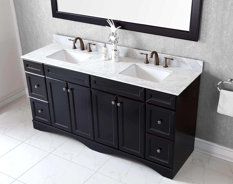 Virtu ED-25072-WMSQ-ES Talisa Double Bathroom Vanity Cabinet Set ...