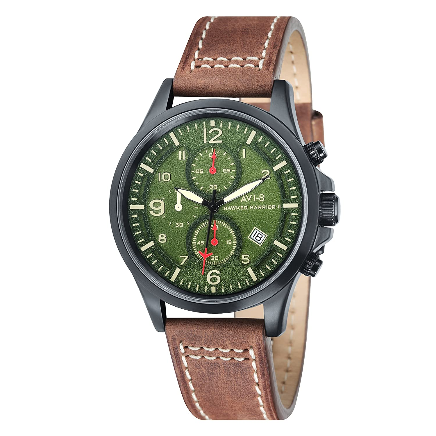 AVI-8 Herren- Armbanduhr Hawker Harrier II Chronograph Quarz AV-4001-04
