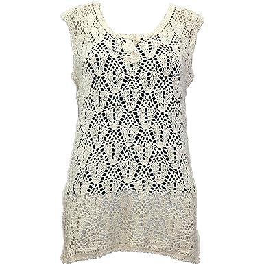 Lakshmi Collection Womens Sleeveless Lace Crochet Top At Amazon