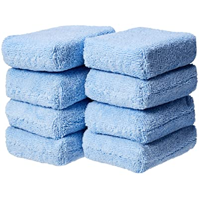 Basics Microfiber Car Applicator Pads, Blue, 8 Pack: Automotive