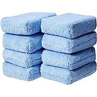 AmazonBasics, Almohadillas para Orejas de Microfibra para aplicación de Autos, Color Azul, 8 Unidades CW190465