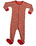Leveret Kids Organic Cotton Candy Cane Baby Boys