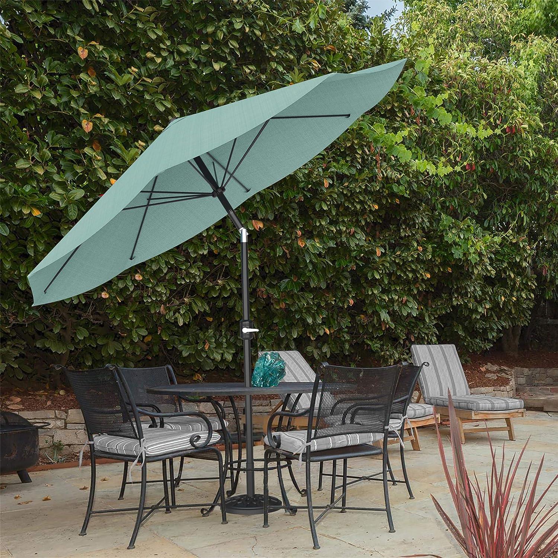 vidaXL Outdoor Umbrella with Portable Base Green Garden Patio Parasol Sunshade