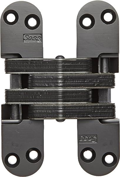 SOSS 218IC Zinc Invisible Spring Closer for 1.75 Doors Black E-Coat Exterior Finish SOSS Door Hardware 218ICUS19