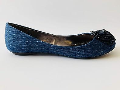 free shipping c2463 e55c3 CHILLANY von Heine 35230 Ballerina Damenschuhe, Blau, EU 39 ...