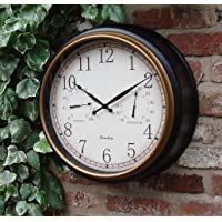 Home and Garden Products Horloge murale de jardin