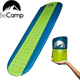 BeCamp Sleeping Pad Ultralight Self-Inflating Camping Pad Durable Soft and Warm Comfy Compact and Easy to Use Ideal for Camping and Sleeping Outdoors