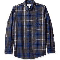 Amazon Essentials Men's Standard Regular-Fit Long-Sleeve Plaid Flannel Shirt