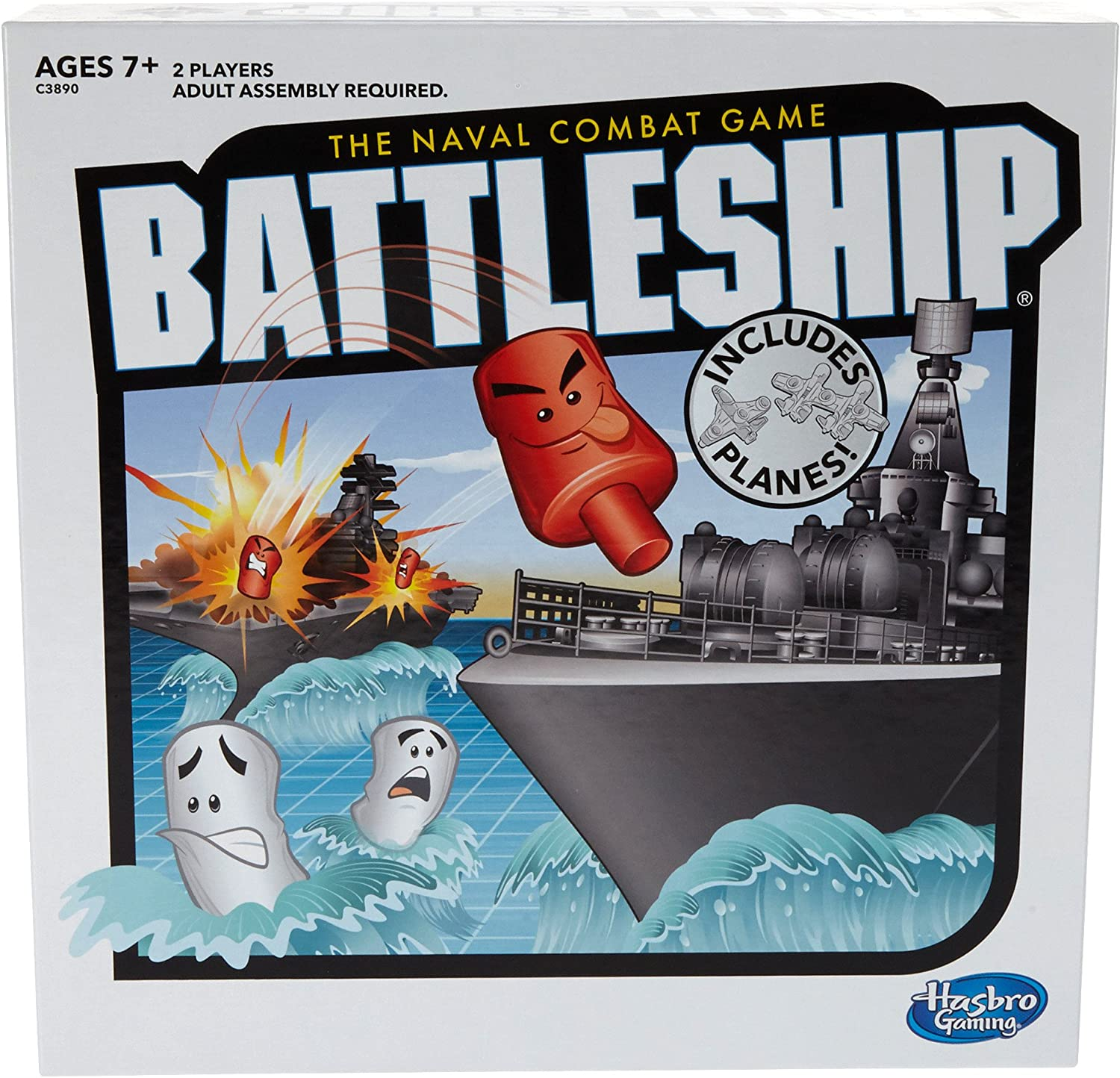 Amazon Com Battleship With Planes Strategy Board Game For Ages 7 And Up Amazon Exclusive Toys Games