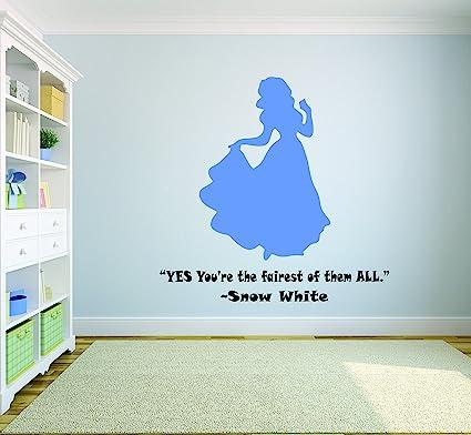 Amazon com: Snow White Princess Wall Decals For Girls Bedroom/Disney