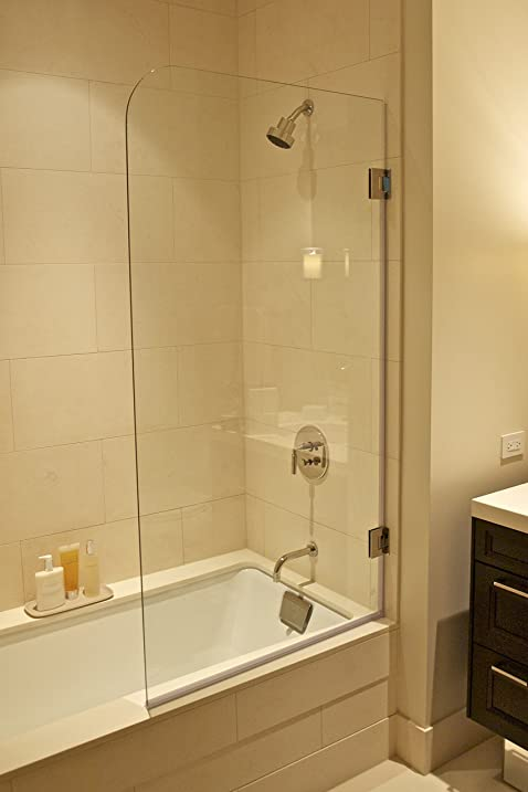 Ark Showers Frameless Bathtub Shower Screen, Pivot Door, 60 X 30, 5 ...