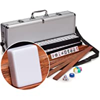 American Mahjong Set Aluminum Case Elemental with Pusher Racks
