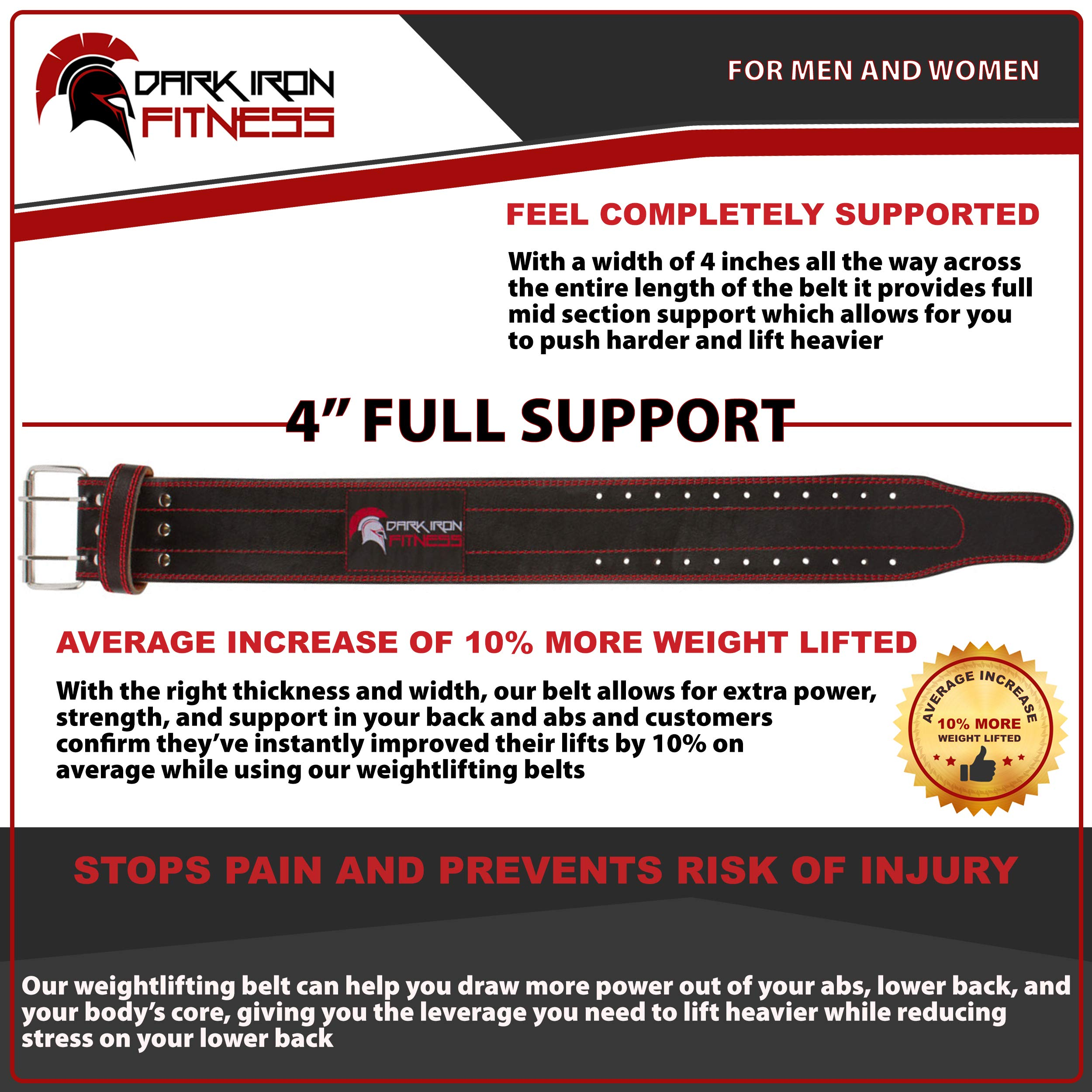 Small Lifting Leather Squatt Belt Weight Lifiting Belts for Back Fitness Belt Workot Belt Wheigt Belt Weight Lifting Belts Weighlifting Back Belt Fitness Belts Mens Weight Lifting Belt Lifting by Dark Iron Fitness (Image #4)