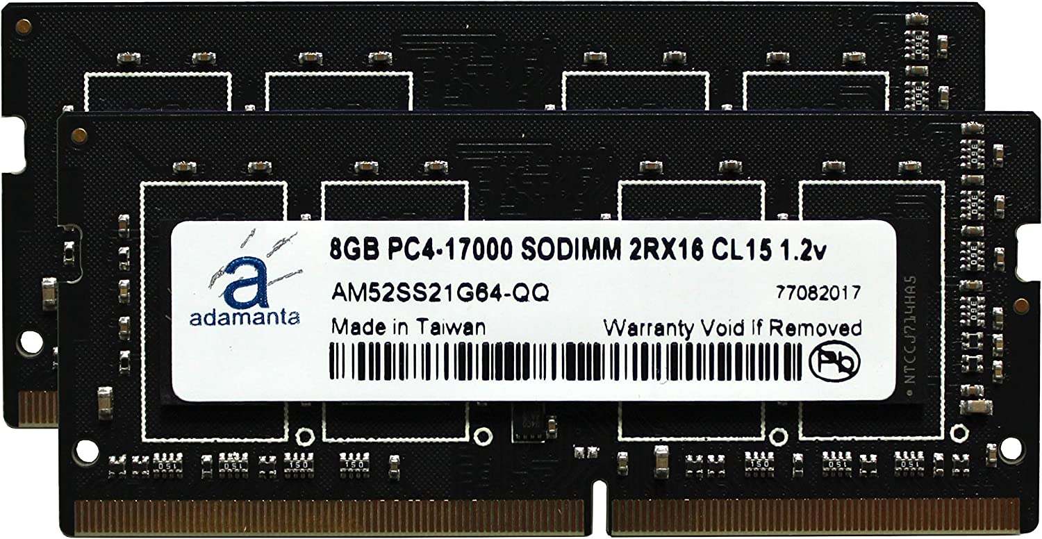 2x8GB Laptop Memory Upgrade for MSi GL72 6QF 409NE DDR4 2133 PC4-17000 SODIMM 2Rx16 CL15 1.2v Notebook RAM Adamanta 16GB