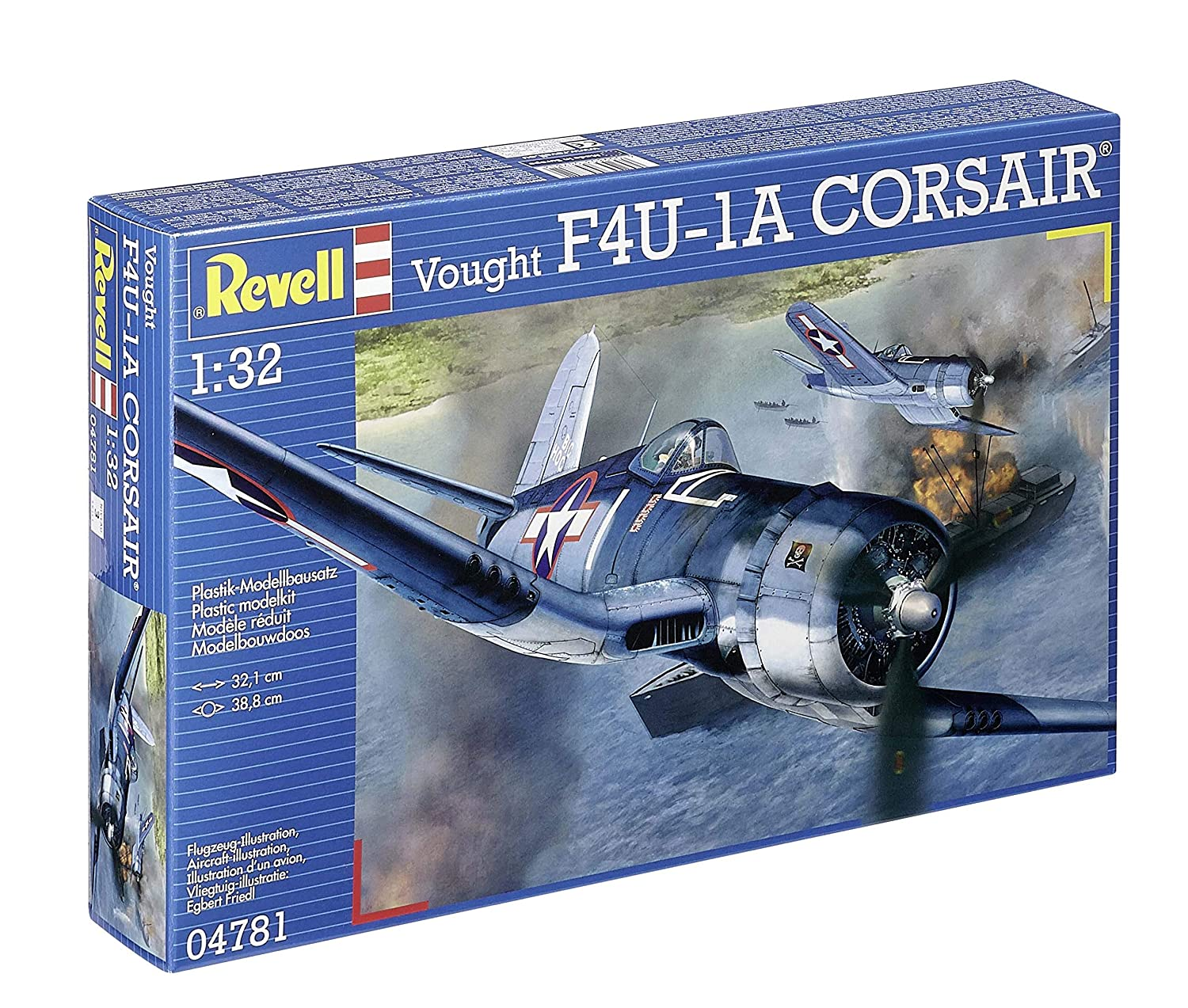 Revell Germany 04781 Vought F4U-1A Corsair Plastic Model Kit (1/32 Scale)