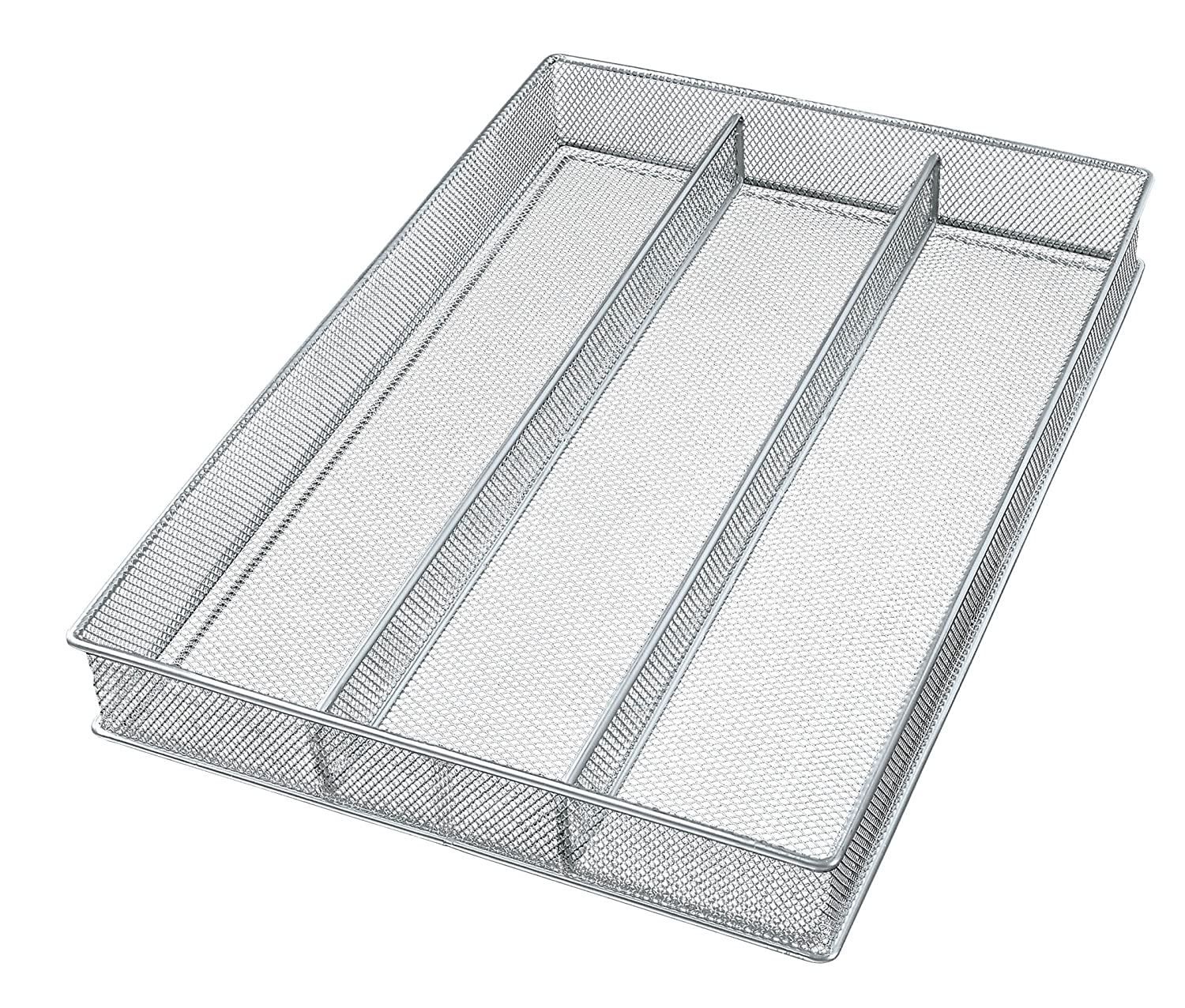 Large Mesh 3-Part In-Drawer Utensil Organizer