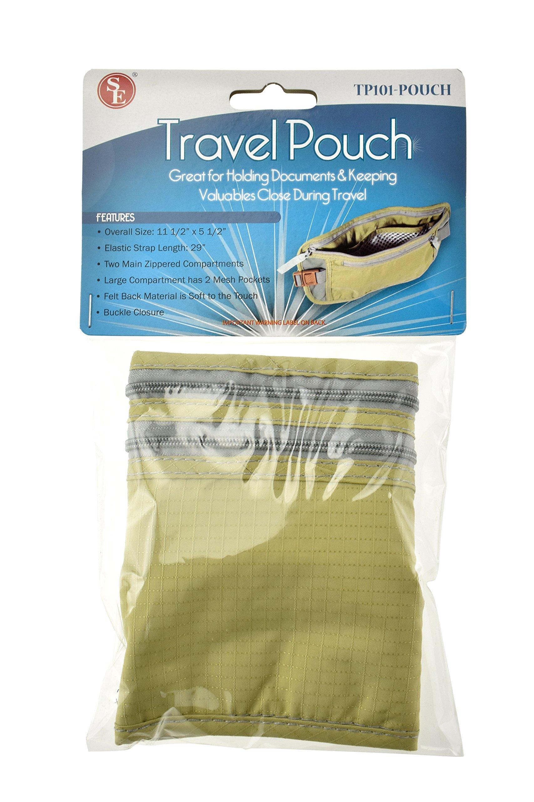 SE TP101-POUCH Concealed Dual Zipper Travel Pouch by SE (Image #7)