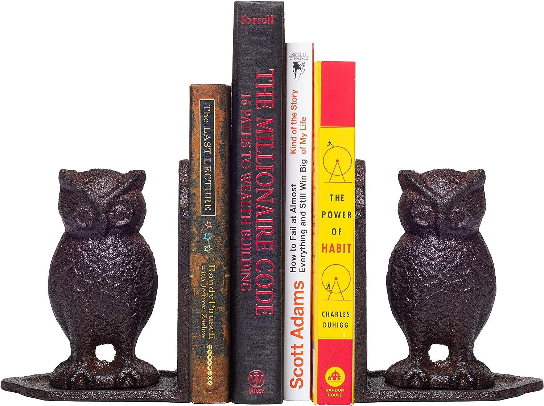 Bookshelf Decorative Holders Bookshelf Decorative Holders Vintage Antique Book EndsHeavy Cast Iron Owl Bookends 8PURE Heavy Cast Iron Owl Bookends Vintage Antique Book Ends