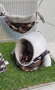 Degú Planeador del azúcar Hamaca Cuadrado De Animales Pequeños-rata Hamster