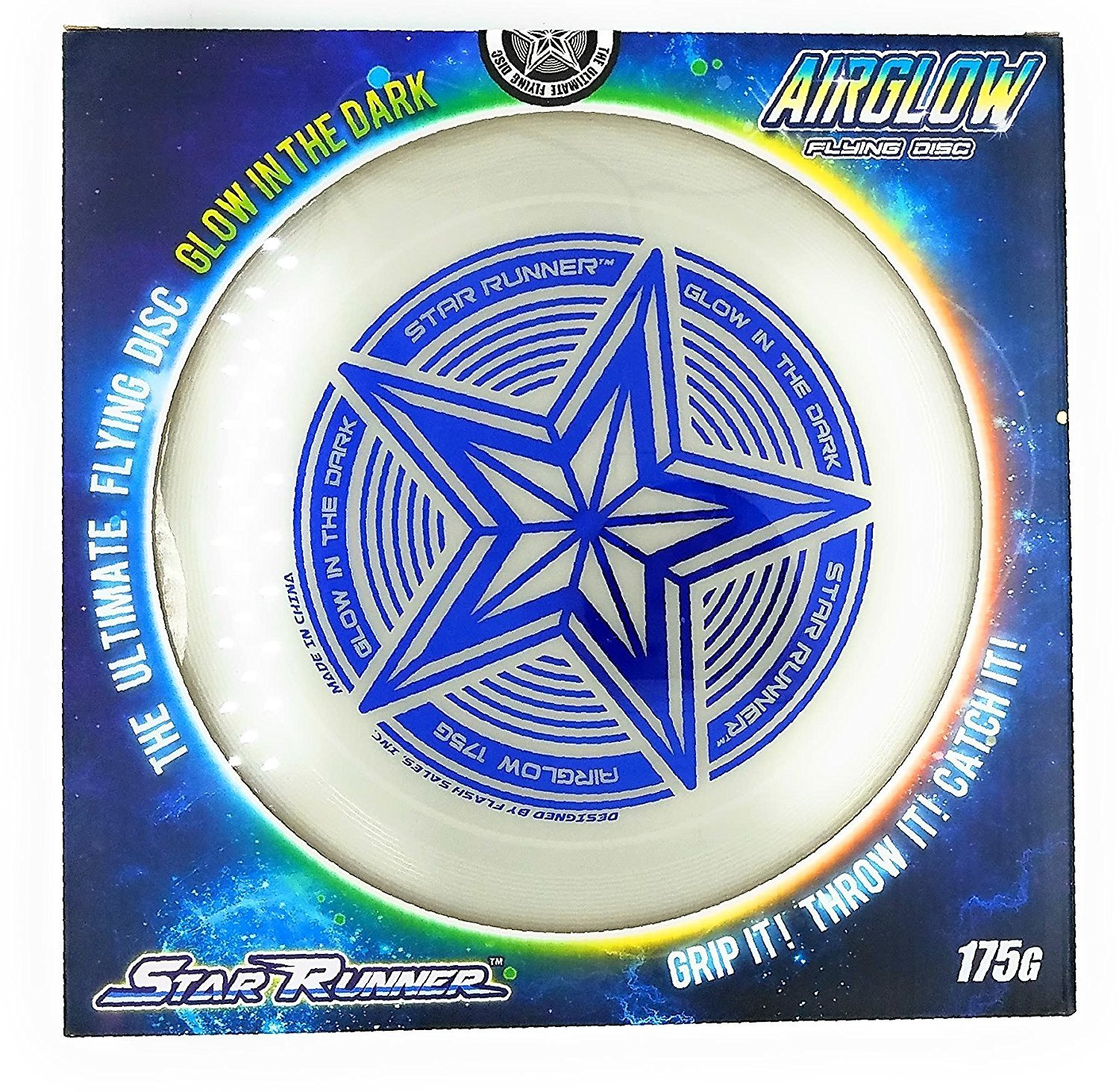 SLR Brands 175 gram Star Sport Glow In the Dark Flying Disc Frisbee by SLR BRANDS
