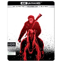 War for the Planet of the Apes (Steelbook) (4K UHD + Blu-ray 3D + Blu-ray) (3-Disc Box Set)
