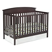 Graco Benton 5-in-1 Convertible Crib, Espresso Easily Converts to Toddler Bed, Day Bed or Full Bed, 3 Position Adjustable Height Mattress