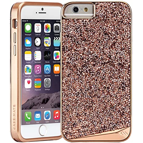 size 40 61f0a a83d4 Case-Mate iPhone 6 Plus Case - BRILLIANCE - 800+ Genuine Crystals - Apple  iPhone 6 Plus / iPhone 6s Plus - Rose Gold