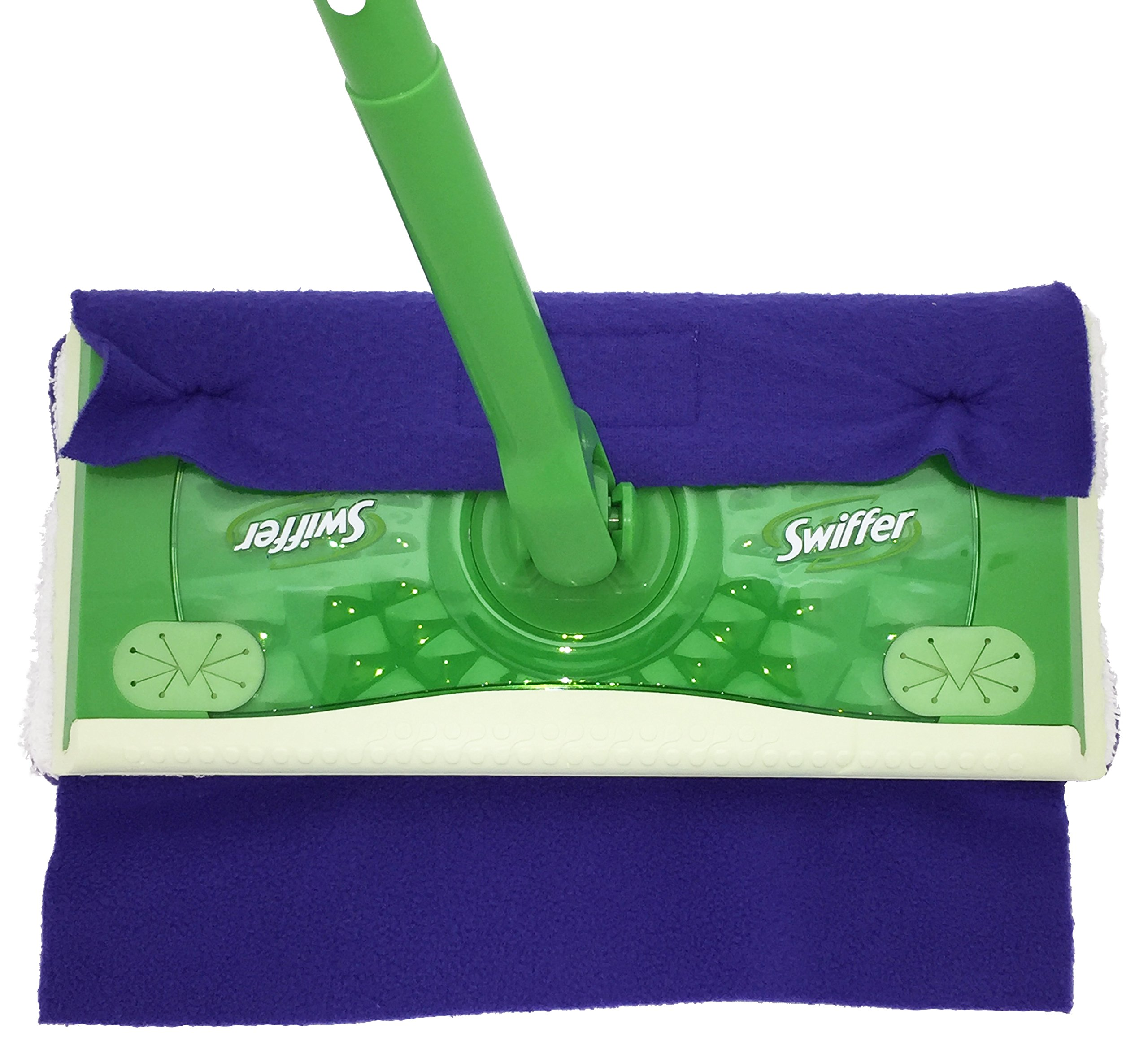 Wet Mop Pads for Sweeper - 2 Sided Fleece & Terry Cloth - Washable Reusable by Xanitize (4-Pack) (Standard, Purple, Blue, Green, Pink) by Xanitize (Image #4)