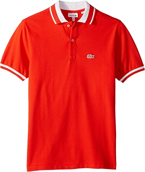 2d701847850f Amazon.com  Lacoste Kids Baby Boy s Short Sleeve Candy Stripe Croc ...