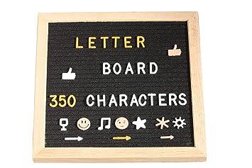 FoxyAssort ☆ Letter Board ☆ Tableau Lettre Decorative, Tableau Noir 350  Lettres Chiffres Emojis ☆