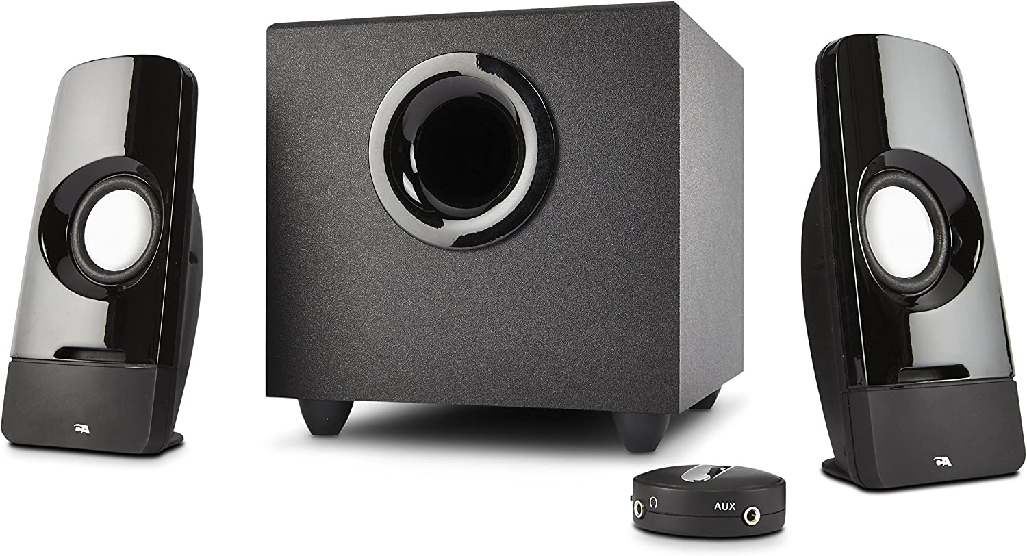 Cyber Acoustics CA-3050 multimedia 2.1 computer speakers with subwoofer and desktop control pod