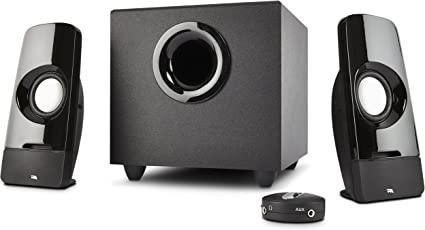 Cyber Acoustics 2.1 Multimedia Laptop Computer Speakers with Su.. Free Shipping