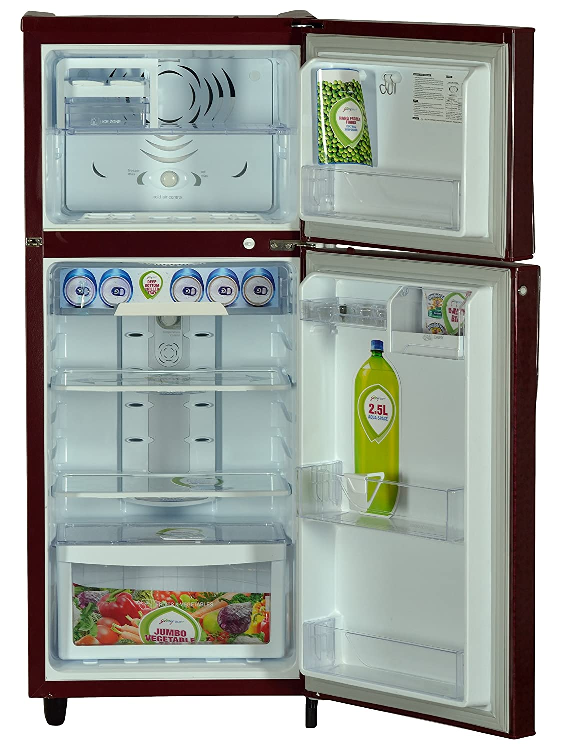 Godrej 240L 2 Star Frost Free Double Door Refrigerator (RT EON 240 P ...
