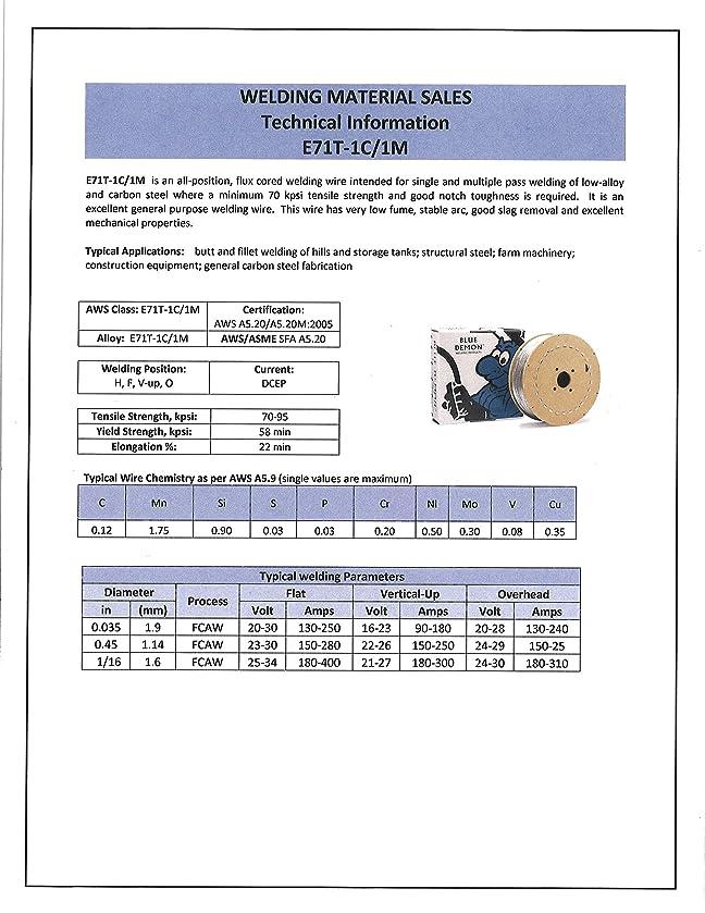 Blue Demon E71T-1/1M X .035 X 33# Spool gas shielded flux core ...