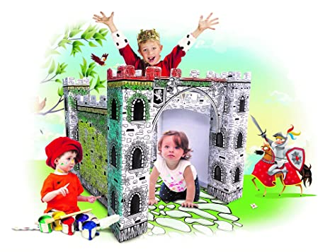 Amazon.com: My Little Castle Cardboard Playhouse - Large Corrugated ...