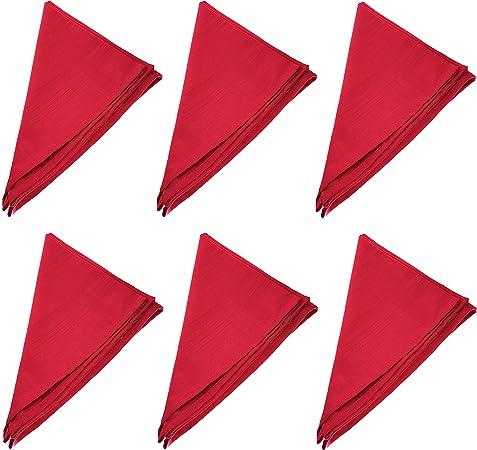 Soleil dOcre Lot de 3 serviettes de table ALIX rouge