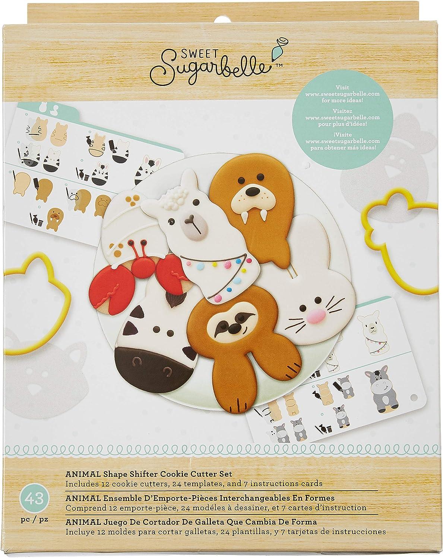 American Crafts 350376 SB Cookie Cutter Set Animal Sh
