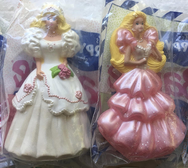 LOOSE SET 8 McDonald/'s 1992 BARBIE Doll BALLERINA Sun Sensation CAKE TOPPER