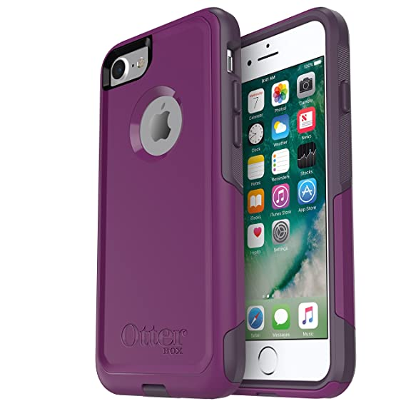 buy popular 02e90 2caf2 OtterBox COMMUTER SERIES Case for iPhone 8 & iPhone 7 (NOT Plus) - Retail  Packaging - PLUM WAY (PLUM HAZE/NIGHT PURPLE)