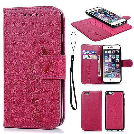 5 opinioni per iPhone 6 Cover, iPhone 6s Custodia Pelle Premium PU e Silicone TPU Case [2 in 1,