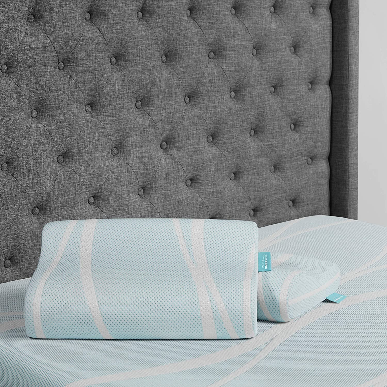Tempur-Pedic TEMPUR-Breeze Cooling Neck Memory Foam Medium Firm Pillow White